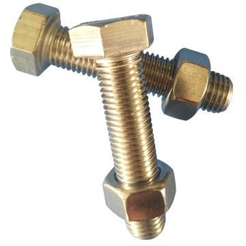 DIN933全牙外六角螺栓带标准螺母,M8-1.25*80,不锈钢304/A2,50套/包