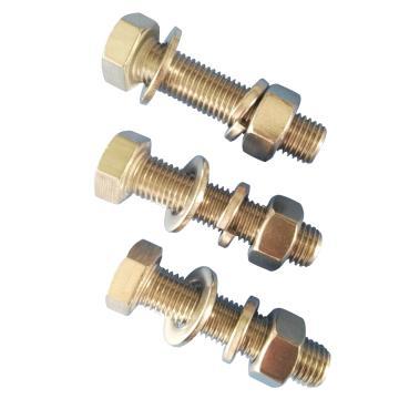 DIN933全牙外六角螺栓带标准螺母平垫弹垫,M8-1.25*20,不锈钢304/A2,100套/包