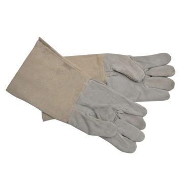 西域推荐 焊接手套,72302,牛皮五指电焊手套 37cm 均码