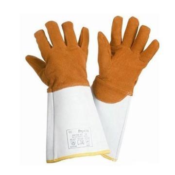 霍尼韦尔Honeywell 焊接手套,2012847-09,进口EN407防金属飞溅颗粒4级标准鹿皮隔热手套