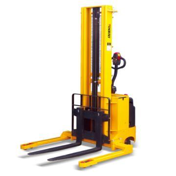 西域推薦 1500Kg 全電動堆高車,寬支腿 鍛造可調貨叉230-790mm 2.9m 配牽引電池 AC交流型,FW1529-AC