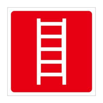 安赛瑞 消防安全标识-消防梯(仅图片),不干胶,250×250mm,20342