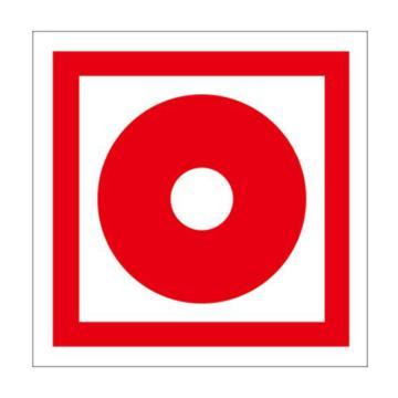 自发光消防警示标签(消防手动启动器)-自发光不干胶,100×100mm,10片/包,20214
