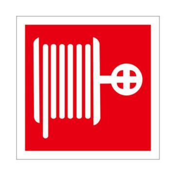 安赛瑞 消防警示标签(消防水带),不干胶,100×100mm,10片/包,20221