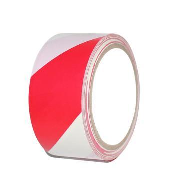 安赛瑞 地板划线胶带,高性能自粘性PVC材料,50mm×22m,红/白,14325