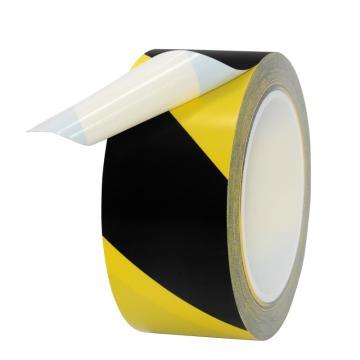 安赛瑞 黄黑相间PVC地面胶带,50mm×22m,14324
