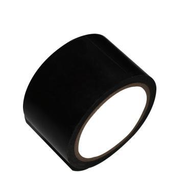 安赛瑞 地板划线胶带,高性能自粘性PVC材料,50mm×22m,黑色,15552
