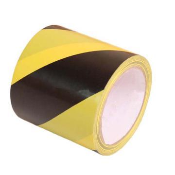 安赛瑞 耐磨型划线胶带,高性能自粘性PP表面覆超强保护膜,75mm×22m,黄/黑,15632
