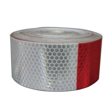 超级晶格车身反光胶带(红/白)-超级晶格反光材料,红白相间,50mm×50m,11121