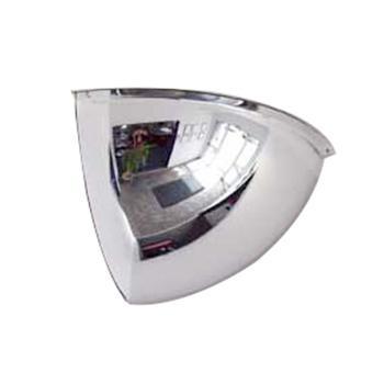 安赛瑞 1/4球面镜,进口柔性PC镜面,含安装配件,Ф300mm,14303