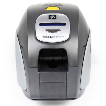斑马(ZEBRA)ZXP3C双面证卡打印机 工作证彩色制卡机P330i升级