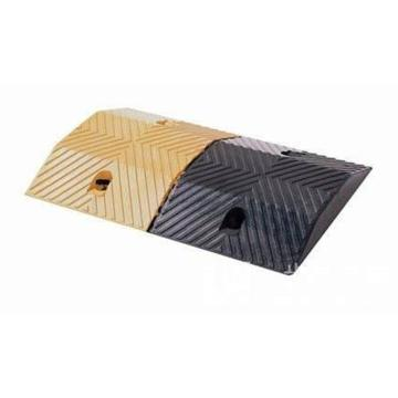 安赛瑞 重载橡胶减速带(10吨),优质原生橡胶,含安装配件,黄/黑色,500×350×50mm,14458
