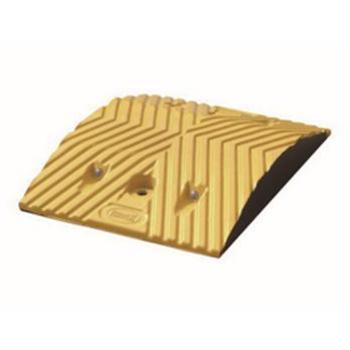 安赛瑞 重载橡胶减速带(10吨),优质原生橡胶,含安装配件,黄色,250×350×50mm,14456