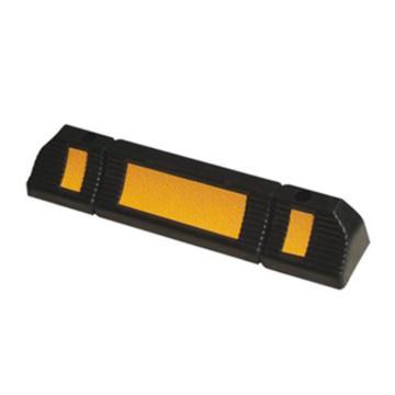 安賽瑞 反光車輪定位器,優質原生橡膠,黃色反光,含安裝配件,600×120×100mm,14470,2個/套