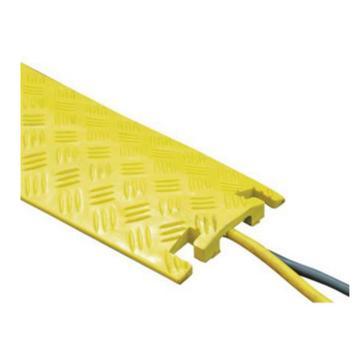 安赛瑞 轻型线缆保护带-高强度塑胶材质,抗压强度2吨,黄色,1000×270×40mm,11118