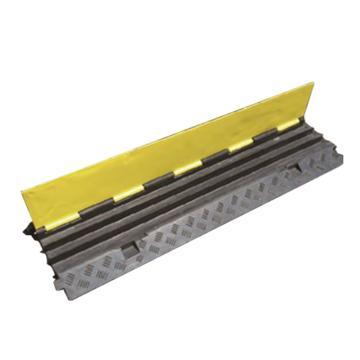 安赛瑞 重型3槽线缆保护带-高强度塑胶材质,抗压强度12吨,黄黑条纹,线槽宽65mm,900×500×75mm,14464