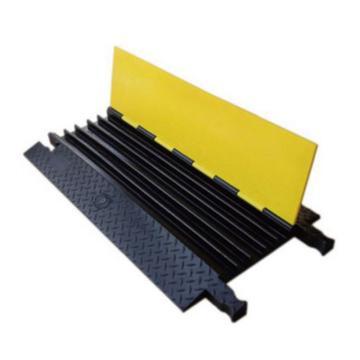 安赛瑞 重型5槽线缆保护带-高强度塑胶材质,抗压强度18吨,黄黑条纹,线槽宽42mm,900×500×55mm,11113
