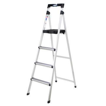 稳耐 铝合金宽踏板家用梯,踏板数:4,额定载重(kg):90,工作高度(米):1.07,型号:TAL4-1