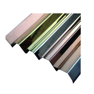 安赛瑞 不锈钢墙面护角,镜面不锈钢,金色,附双面胶,25mm×25mm×1.5m,厚1mm,15515,10根/包