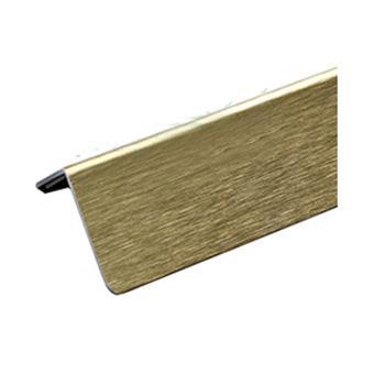 安赛瑞 铝合金墙面护角,拉丝铝合金材质,金色,内附双面胶,36mm×36mm×1.5m,厚1.5mm,15510,10根/包