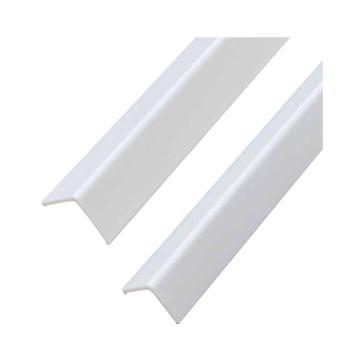 安赛瑞 PVC墙面护角,进口PVC材质,光面,白色,内附双面胶,20mm×20mm×1.5m,厚2.5mm,15495,10根/包