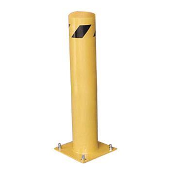 安赛瑞 钢制低位防撞柱,钢制,黄色粉末喷涂,含安装配件,壁厚3mm,Ф115×610mm,11213