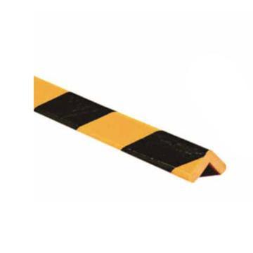 警示防撞条(H款)-耐寒PU材质,黄黑橘皮纹表面,直角型,80×80×800mm,11417