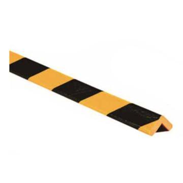警示防撞条(G款)-耐寒PU材质,黄黑橘皮纹表面,直角型,55×55×980mm,11416