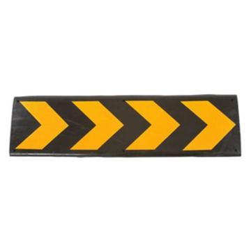 安赛瑞 轻型墙面保护器,优质原生橡胶,黄色反光条纹,重2kg,含安装配件,800×220×35mm,14468