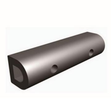 安赛瑞 D型防撞缓冲块,优质原生橡胶,黑色,重32kg,含安装配件,1000×200×200mm,14467