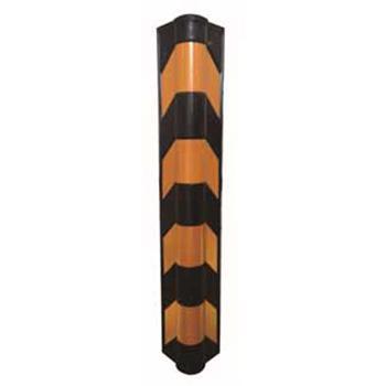 安赛瑞 反光墙角保护器(圆角),优质原生橡胶,黄色反光条纹,含安装配件,高800mm,11400