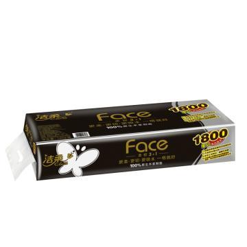 潔柔Face(黑色)180克卷紙衛生紙 10卷/提*6提/箱 單位:箱