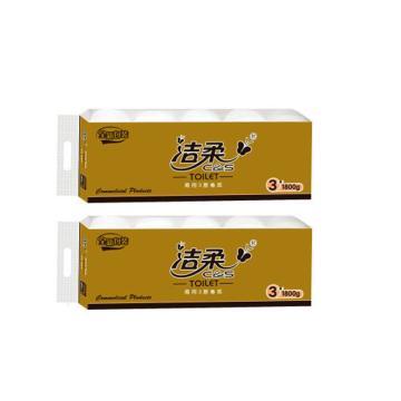 潔柔商用卷紙衛生紙,180克 3層平紋 JJ179-01,10卷/提*6提/箱 單位:箱