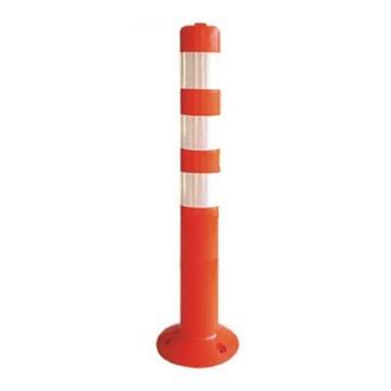 襄辰 弹性警示柱,红白,高750mm,直径75mm(含安装配件)