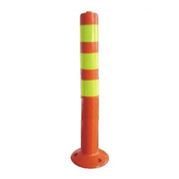襄辰 弹性警示柱,红黄,高750mm,直径75mm(含安装配件)