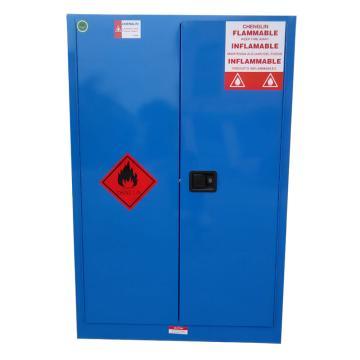 成霖 蓝色弱腐蚀性液体安全柜,60加仑/227升,双门/手动,2块可调层板,3块托盘,CL806002
