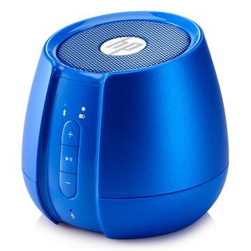 惠普(HP)無線藍牙迷你音箱, 筆記本電腦手機便攜低音炮音響 藍色 S6500 單位:個