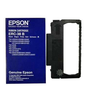 爱普生(EPSON) ERC-38B黑色原装色带架含芯适用TM-U220/U288/U330针式小票打印机