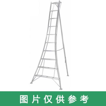 PICA 三脚梯子,园艺三脚 MAX 100kg 梯子垂高:4.35m 有效高:3.48m 升降面:1574mm 纵深:2591mm 重量:19.0kg