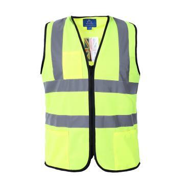 博迪嘉 普通款反光背心,荧光黄(两个口袋+双笔袋),CN034-L