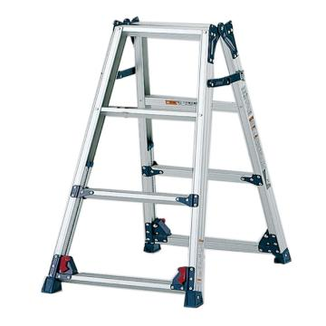 PICA 四脚调节式两用梯,(人字梯兼用直梯)(双侧宽幅踏步55mm)梯全长:2.02-2.66m 缩长:0.94-1.25m 重量:6.2kg
