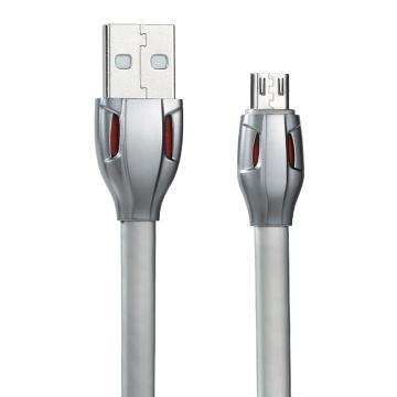 REMAX 雷蛇數據線,安卓版 RC-035m充電線MICRO USB充電線 多色可選(銀色) 單位:個(售完即止)