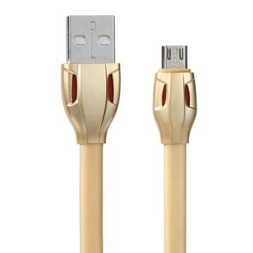 REMAX 雷蛇數據線,安卓版 RC-035m充電線MICRO USB充電線 多色可選(金色) 單位:個(售完即止)