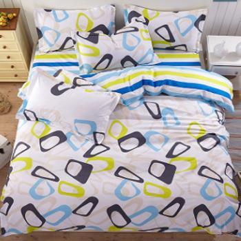 床上用品磨毛四件套,90克面料床单1.5四件套, 被套:150*200 床单:200*225 枕套:48*74*2