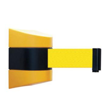安赛瑞 壁挂式伸缩隔离带,工程塑料外壳,尼龙布隔离带,含安装配件,带长5m,11216