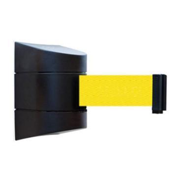 安赛瑞 壁挂式伸缩隔离带,工程塑料外壳,尼龙布隔离带,含安装配件,带长3m,11117