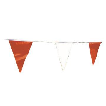 安赛瑞 警示红白旗,涤纶布材质,红白相间,三角旗尺寸140×180mm,10m/卷,14107
