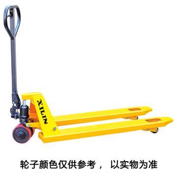 西林 DB系列手动液压搬运车,额定载荷(t):2,降低时高度(mm):75,货叉外宽(mm):550,货叉长度(mm):1150,尼双