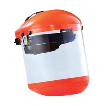 蓝鹰 头盔式防护面屏套装,B1OR+FC48N ,橘色