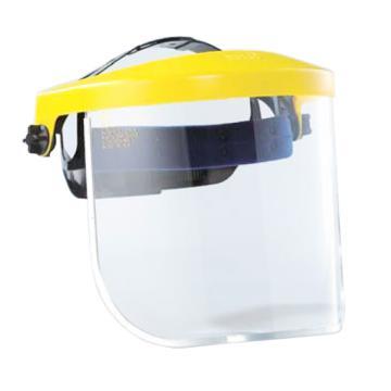 蓝鹰 头盔式防护面屏套装,K4YE+K28N,黄色 简易式调节